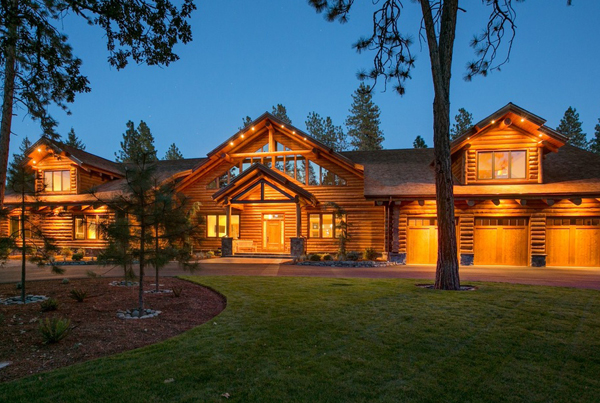 Rustic/Modern Log Home