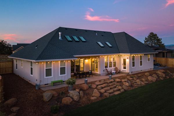 Riverdell Construction Modern Farmhouse backyard (21)